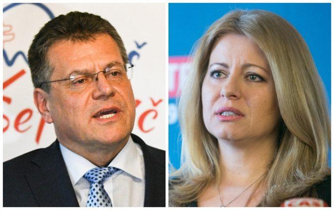 Čaputová a Šefčovič sa v otázke finančnej pomoci od USA zhodli, rozdeľuje ich voľba ústavných sudcov