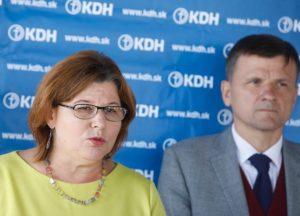Hlinovo KDH sa posilnilo o odídenú poslankyňu od Matoviča