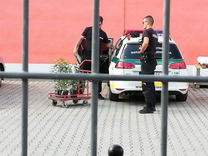 Foto: Policajti nakupovali rastliny počas služby, vyjde ich to draho