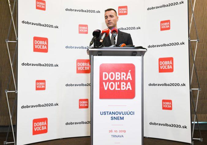 Druckerova Dobrá voľba pôjde do parlamentných volieb samostatne