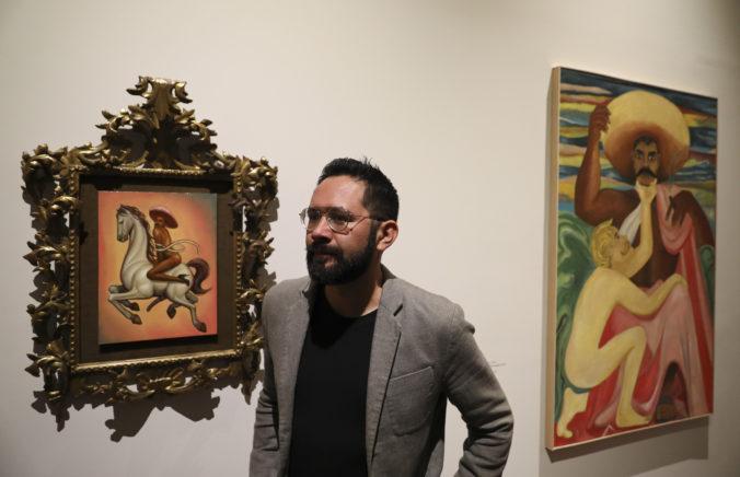 Revolučný hrdina Zapata je na maľbe zobrazený nahý a v lodičkách, obraz vyvolal protesty