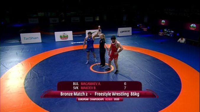 Boris Makojev získal bronzovú medailu na ME v zápasení