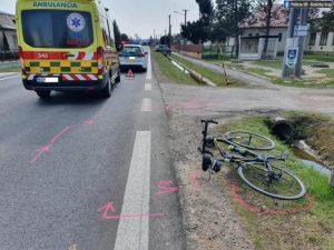 Staršieho cyklistu zachytil Citroen, muž v nemocnici zomrel (foto)