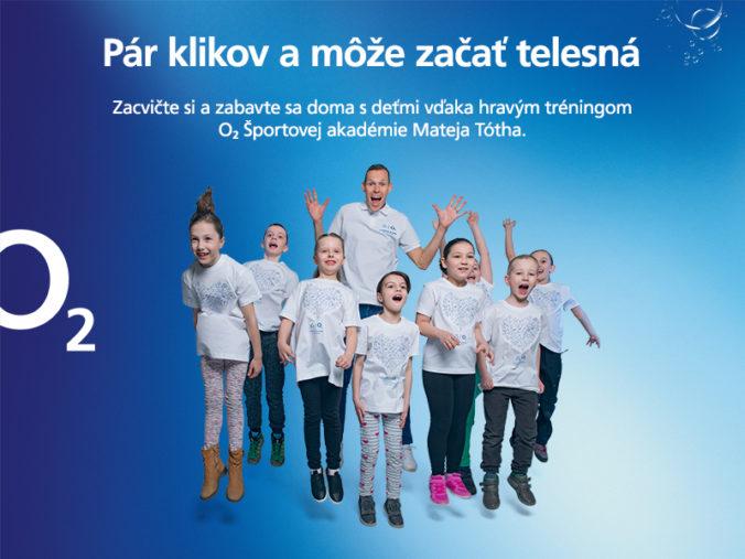 O2 Športová akadémia Mateja Tótha spúšťa Telesnú na doma. Zacvičte si spolu s vašimi deťmi