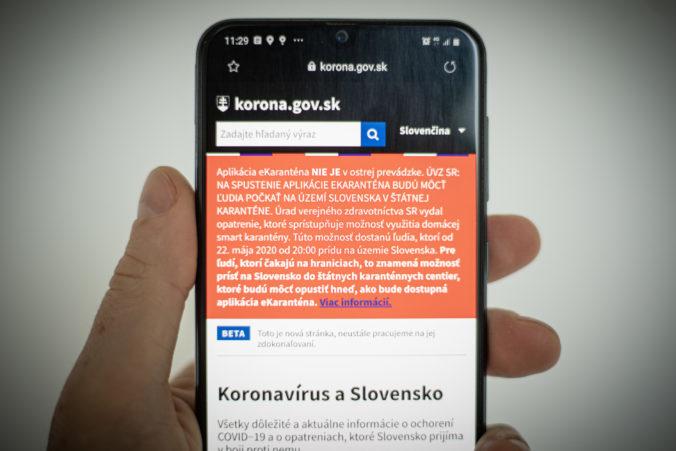 Aplikácia eKaranténa zaregistrovala rekordný záujem za deň, funguje na dvanástich priechodoch