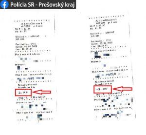 Polícia zastavila Vranovčana na Škodovke, dychová skúška ukázala šokujúci výsledok