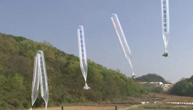 Južná Kórea chce zastaviť posielanie balónov cez hranice, spôsobujú vraj napätie (video)