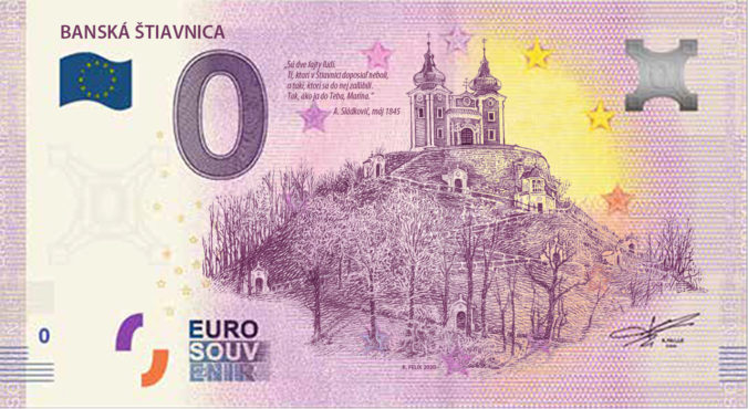 Zaľúbená Štiavnica má svoju suvenírovú bankovku, predstavili aj unikátnu mincu (foto)