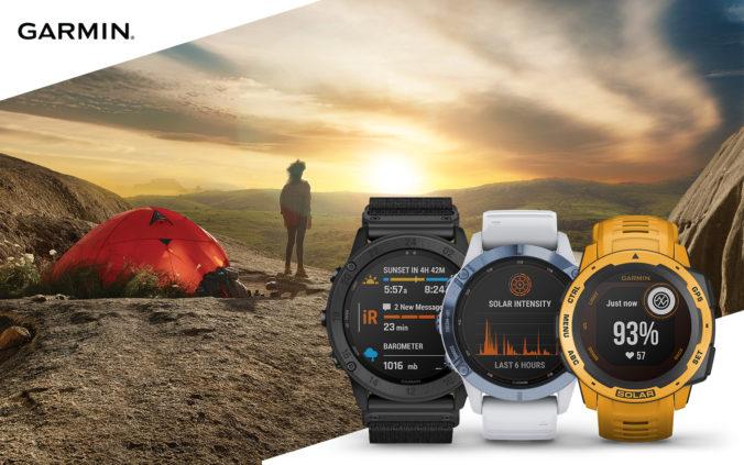 Garmin pridáva technológiu solárneho dobíjania pre ďalšie populárne modely športových hodiniek