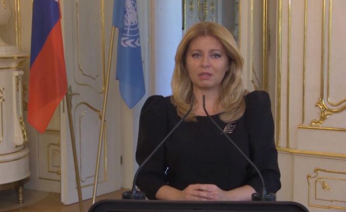 Zuzana Čaputová v prejave na Valnom zhromaždení OSN hovorila o lekciách súvisiacich s pandémiou (video)
