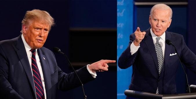 Trump diskutoval s Bidenom, prvá spoločná debata sa nezaobišla bez napätia a urážok