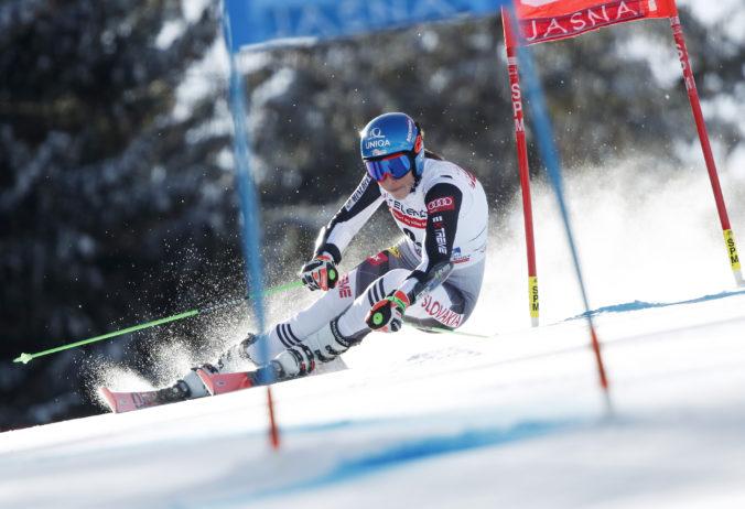 Vlhová predviedla v obrovskom slalome skvelý výkon, po 1. kole skončila druhá za Shiffrinovou (video)