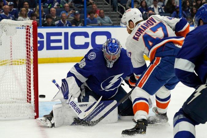 Černákova Tampa uštedrila výprask Islanders 8:0, Vasilevskij vychytal štvrtý shutout v kariére (video)
