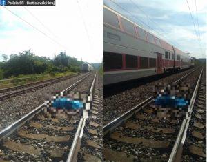 Vlak zrazil v Devínskej Novej Vsi 40-ročného muža (foto)