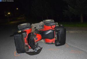 Opitý vodič sa v Levoči premával na štvorkolke a havaroval, nafúkal jeden a pol promile