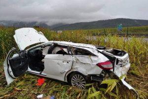 Pri tuneli Branisko sa stala vážna dopravná nehoda, spolujazdkyňu prevážal vrtuľník (foto)
