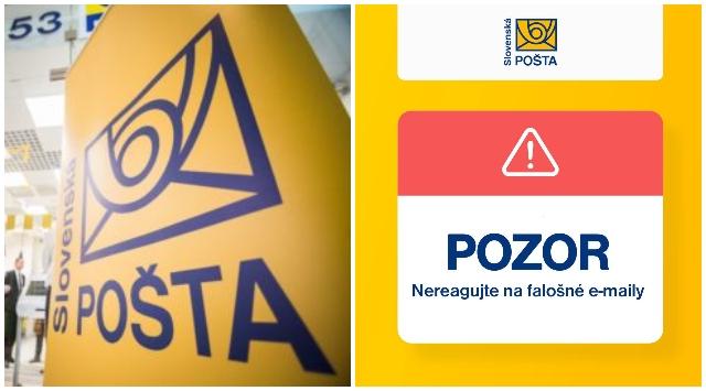 Slovenská pošta upozorňuje na falošnú webovú stránku podobnú jej vlastnej, podala aj trestné oznámenie