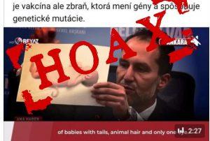 Na sociálnej sieti sa šíri hoax o tom, že očkovaným rodičom sa narodilo dieťa s chvostom